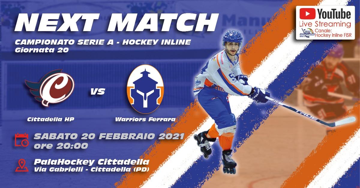 Serie A: Cittadella HP - Warriors Ferrara - Giornata 20/22 @ Palahockey Cittadella | Cittadella | Veneto | Italia